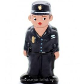 Muñeco barro Policía