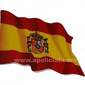 Pegatina grande bandera España escudo