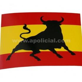 Pegatina grande bandera/toro
