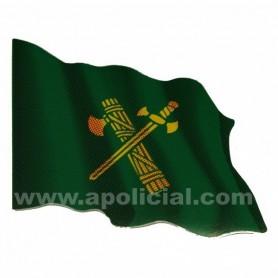 Pegatina pequeña bandera verde