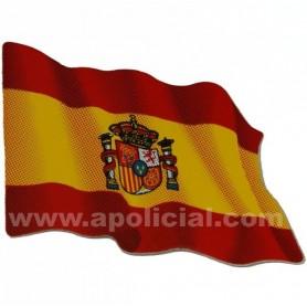 Pegatina pequeña bandera España escudo