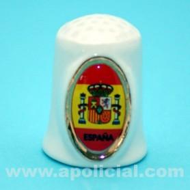 Dedal porcelana bandera España